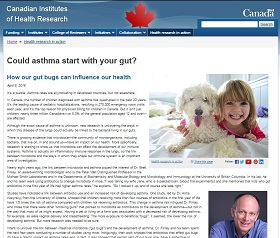 CIHR highlights gut bacteria research in new online feature
