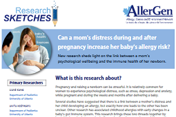 New lay summary: Can mom's distress increase baby's allergy risk?