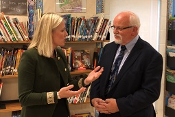 CHILD's Founding Director speaks with Environment Minister
